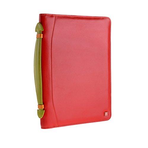 Cartella portadocumenti in pelle multicolore porta iPad di DUDU Rosso