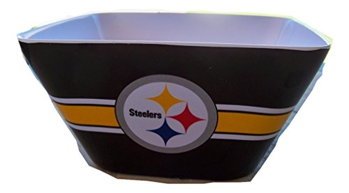 NFL Pittsburgh Steelers Plastic Melamine Square Serving Bowl 4.5 QT from Officially Licensed NFL Football Merchandise