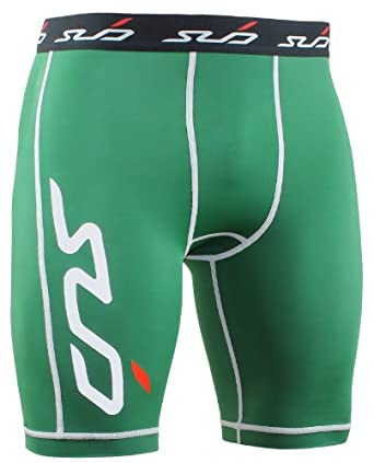 Sub Sports DUAL Men's Compression Base Layer Shorts - Green - S