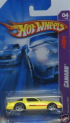Hot Wheels 2007 Camaro : Yellow Camaro Z28 (04 0f 04 - 044/180) 1:64 Scale
