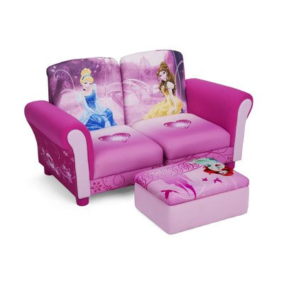 Delta Children's  Products Disney Princess Upholstered Sectional Set, 3-Piece at Amazon.com