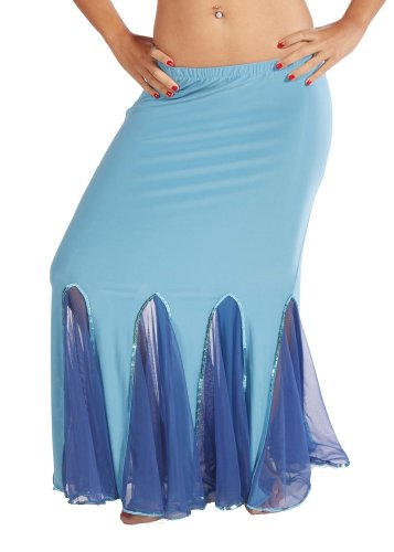 Belly Dance Lycra & Chiffon Mermaid Skirt | Esme Toure Skirt