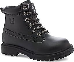 Fila Edgewate 12 Hiking Shoe (Little Kid/Big Kid), Black/Black, 5 M US Big Kid