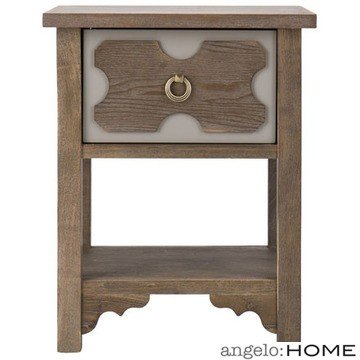 Cheap angelo:HOME Laurel End Table in Weathered Oak Finish (CK7882)