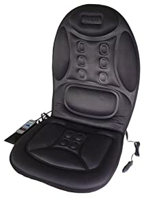 Wagan IN9988 Black 12V Ergo Comfort Rest Massage Magnetic Cushion