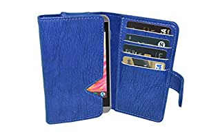 TOTTA PU Leather Wallet Pouch with Card Holder Karbonn Titanium S7