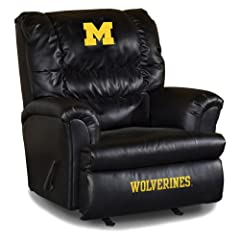Buy NCAA Michigan Wolverines Big Daddy Leather Recliner by Imperial