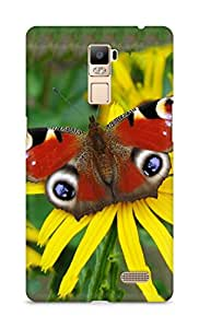 Amez designer printed 3d premium high quality back case cover for Oppo R7 Plus (Peacock butterfly)