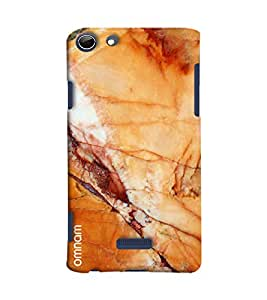 Omnam Marble Effect With Yellowish Shade Printed Designer Back Cover Case For Micromax Selfie 3 Q348