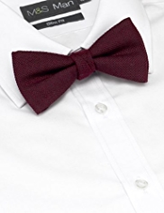 Wool Blend Textured Bow Tie