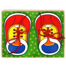 Wooden Smooth Lovely Fasten Shoelace Puzzles Toy Decoration For Children Room Cyd_080 front-477436