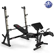 Cheap Marcy Diamond Elite Olympic Weight Bench with Squat Rack - 270kg Weight Load | Preacher Pad | Leg Developer Comparison-image