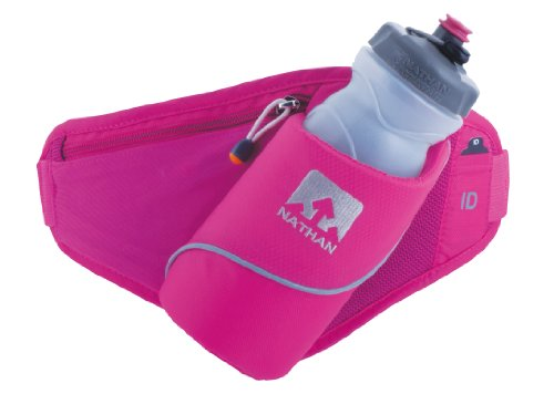 Nathan Performance Gear Nathan Triangle Insulated Angled Holster Waist Pack (Pink / Light Grey)