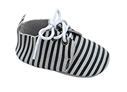 Unique Baby Unisex-Baby Striped Oxford Shoes