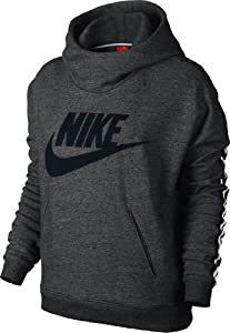 nike damen pullover sportswear district women 39 s hoodie schwarz s 545598 032. Black Bedroom Furniture Sets. Home Design Ideas