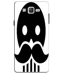 EU4IA Skull With Moustache Pattern MATTE FINISH 3D Back Cover Case For SAMSUNG GALAXY J7 - D133