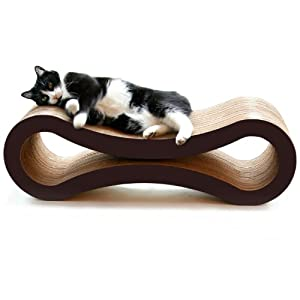 PetFusion Cat Scratcher Lounge, Walnut Brown