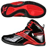 Reebok Still Talking Black/Red Basketball Shoes men's 7.5