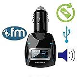 *リモコン付属*ワイヤレスポータブルカーキット車載 MP3プレーヤー FMトランスミッター 車用シガーライター充電式 iPone 5S、5C、4、iPod、iPad、Androidスマホに対応