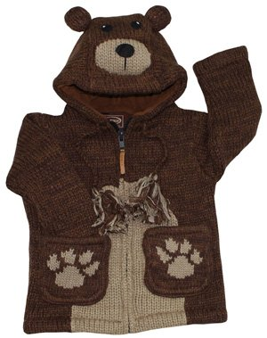 Kyber Brown Bear Wool Sweater -Small
