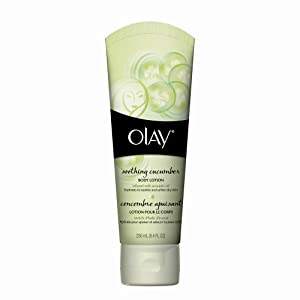 Olay Soothing Cucumber Body Lotion, White, 8.4 Fluid Ounce (Pack of 2)