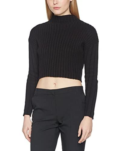 Guess Longsleeve Ls Finessa Micro Pullover [Nero]