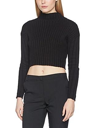 Guess Camiseta Manga Larga Ls Finessa Micro Pullover (Negro)
