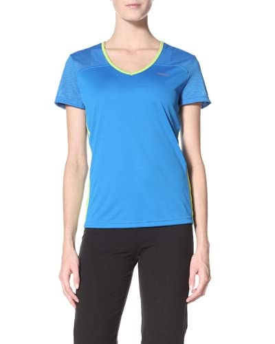 Reebok Women's Versacool Train Tee  - Blue/Green