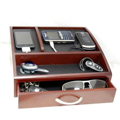 Digipower SAM-G100-CH Executive Edition Charging Valet - Cherrywood