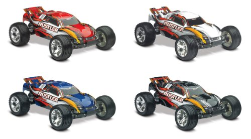 Traxxas Rtr 1/10 Rustler With Water Proof Xl-5 Rtr And 7 Cell Battery With Charger