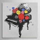 XM handgemaltes Ölgemälde Stilleben Klavier mit gestreckten Rahmen