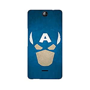 Mobicture Captain America The Great Defender Premium Printed Case For Micromax Canvas Juice 3 Q392