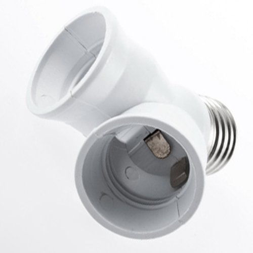 YKS E27 1 to 2 E27 LED Light Lamp Bulb Adapter Converter Split Splitter Base Socket