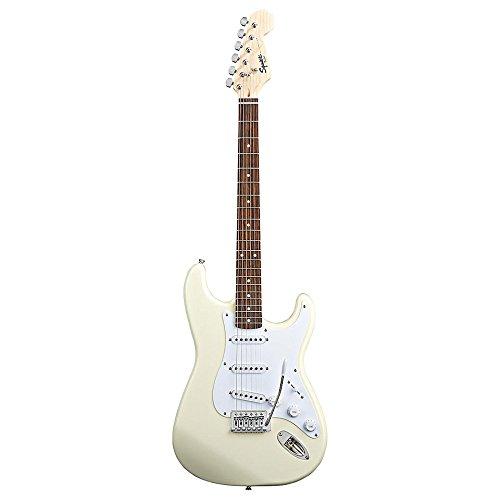 Fender Starcaster - Chitarra elettrica forma Stratocaster, colore: Bianco