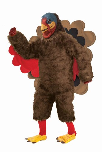 Forum Novelties Men's Deluxe Plush Turkey Mascot Costume