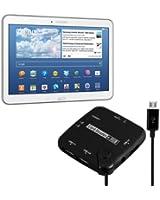kwmobile 7in1 adaptateur Micro USB lecteur de carte USB-OTG pour Samsung Galaxy Tab 4 10.1 T530 / T531 / T535