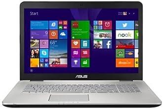 Asus N751JK-T7216H Notebook, Display 17.3 Pollici FullHD, Processore Intel Corei7-4710HQ, RAM 16 GB, 2 TB 2x HDD 1 TB 7200 rpm, Scheda Grafica nVIDIA GeForce GTX 850M 4GB, Argento