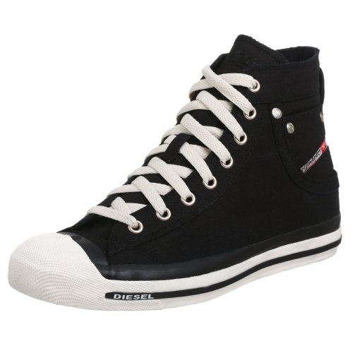 Diesel Men's Exposure 00Y833 PR413 H0144 Trainer Canvas Black 8 UK