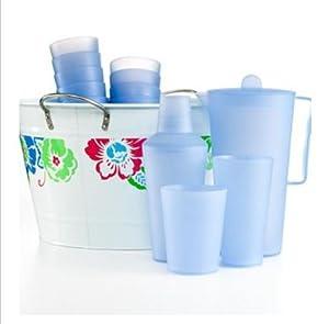 Martha Stewart 15 Piece Summer Entertaining Party Set with Drink Bucket