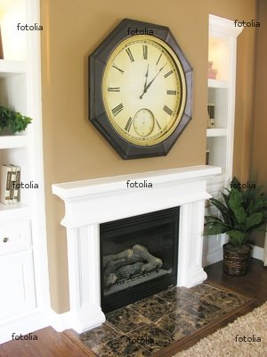 """Wallmonkeys Peel and Stick Wall Graphic - Fireplace and Mantle - 18""""H x 14""""W"""