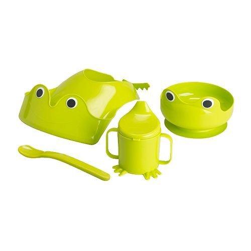 Ikea Mata 4 - Piece Green Baby Dinnerware Set - 1