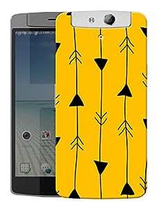 "Humor Gang Arrow In Line Printed Designer Mobile Back Cover For ""Oppo N1"" (3D, Matte, Premium Quality Snap On Case)"