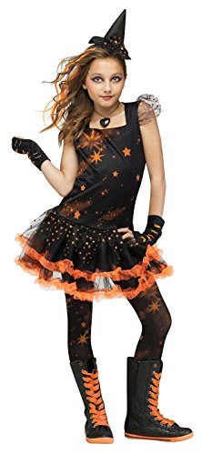 Sparkle Star Witch Child Costume Large