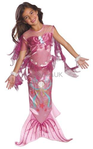 Costume Carnevale Travestimento da Sirenetta Rosa Ariel - Disney - Bambina Medium