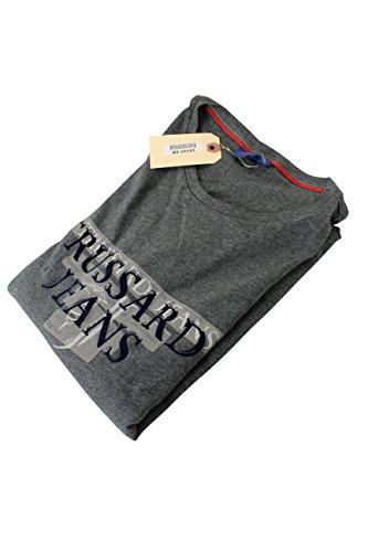 trussardi-mens-long-sleeve-graphic-t-shirt-size-xxl-us-regular-grey-cotton
