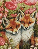 Little Foxes Cross Stitch Kit