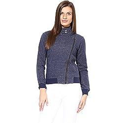 Hypernation Blue Color Causal Jacket For Women