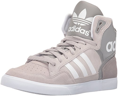 Adidas Originals Women's Extaball W Fashion Sneaker, Charcoal Solid Grey/White/Chrome, 9 M US