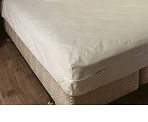 College Dorm Cotton Mattress Cover,Twin Extra Long, Zips around the mattress