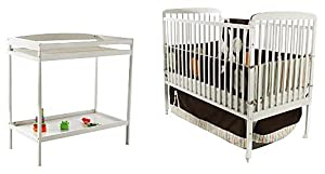 Dream On Me 2 in 1 Full Size Crib and Changing Table Combo, White